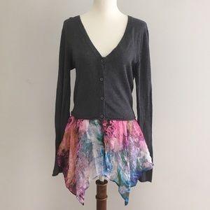 Sundance Gray Cardigan Sweater Size Medium